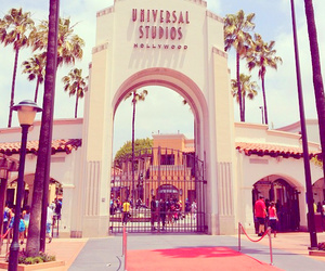 pink, universal studios, and hollywood image