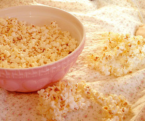 popcorn, food, and pink image