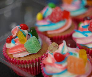 cupcake, candy, and food image