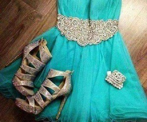 blue, dresses, and shoes image