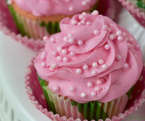 cupcakes, food, and cream image