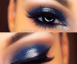 eyes, makeup, and lips image