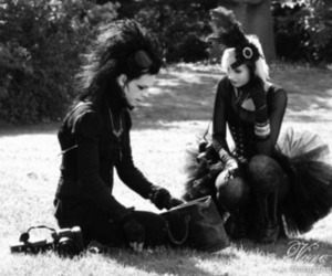 black and white, deathrock, and goth image
