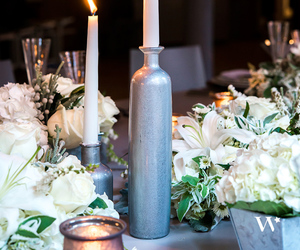 bottle, candle holder, and centerpiece image