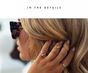 rings, blonde, and hair image