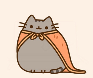 cat, super hero, and pusheen image