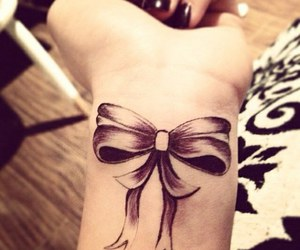 bow, tatoo, and cute image