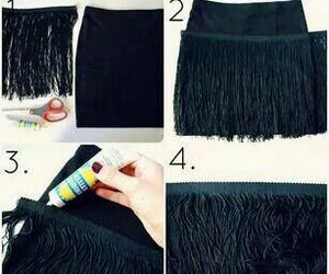 diy, skirt, and black image
