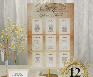 brown, ivory, and seating chart image