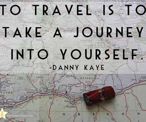 journey, travel, and quote image