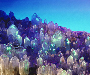 crystal, blue, and gems image