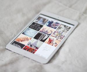ipad, white, and apple image