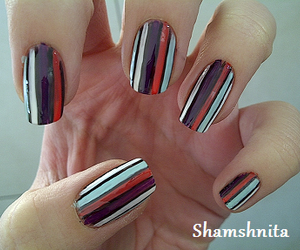 nail art, nails, and stripes image