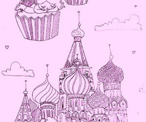 cat, cupcake, and moscow image