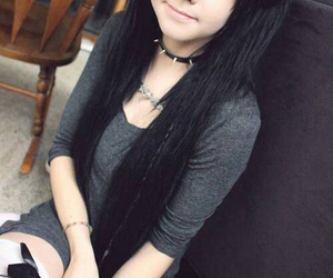 black hair, scene, and dyed hair image