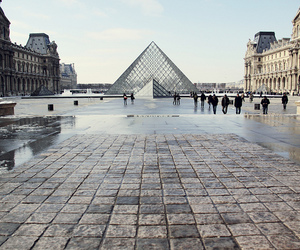 paris, louvre, and city image