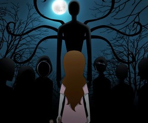sally, slenderman, and creepypasta image