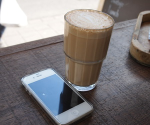 coffee, iphone, and coffe image