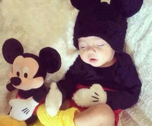baby, mickey, and OMG image
