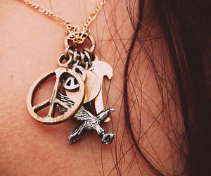 peace, fashion, and necklace image