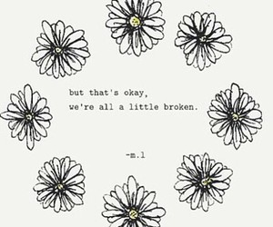 broken, flowers, and quote image