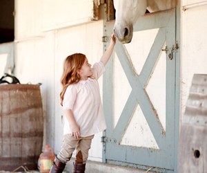 horse, kids, and child image