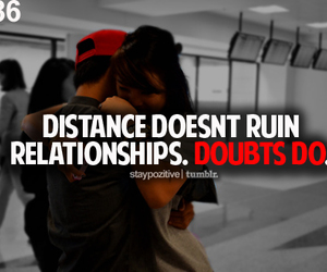 distance, quote, and typography image