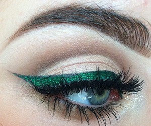beauty, eye makeup, and green image