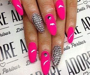 nails, girly, and nail polish image