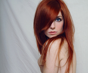 eye, redhair, and naked image