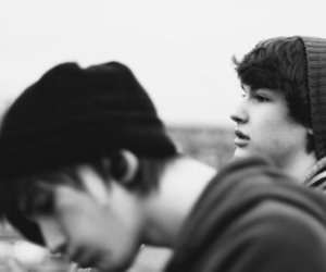 boy, friends, and black and white image