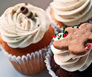 cupcake, christmas, and winter image