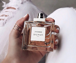 perfume, Balmain, and nails image