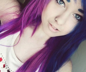 cute, blue hair, and girl image