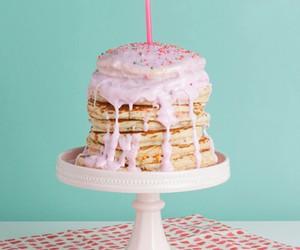 pancakes, cake, and pink image