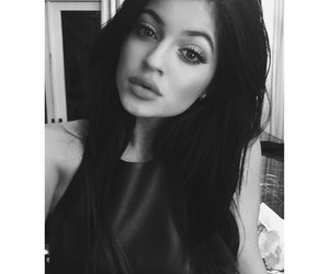 kylie jenner, kylie, and black and white image
