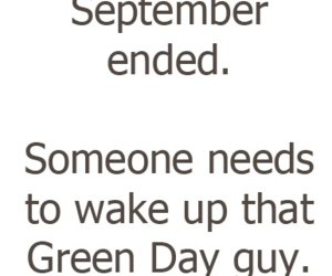 green day, September, and funny image