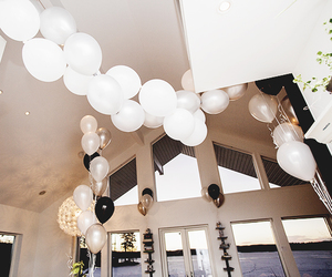 balloons, house, and party image