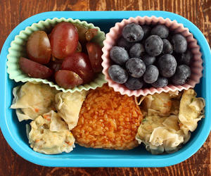 children, lunches, and healthy image