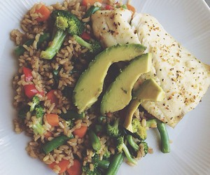 healthy, food, and rice image