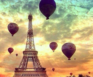 eiffel tower, love, and france image