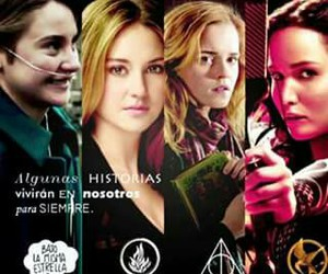 harrypotter, divergent, and thg image