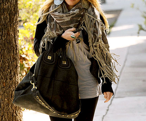 fashion, Hilary Duff, and scarf image