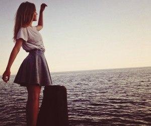 sea, girl, and fashion image