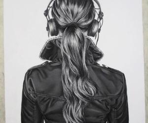 art, girl, and music image
