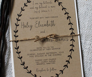 chic, invitation, and rustic chic image