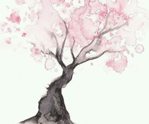 tree, art, and pink image