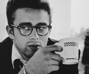 james dean, coffee, and glasses image