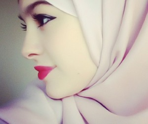 girly, hijab, and red image