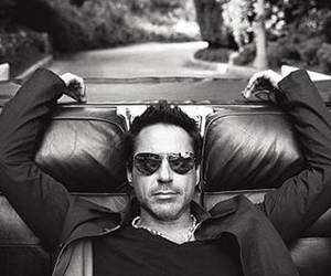 robert downey jr, black and white, and robert downey jr. image